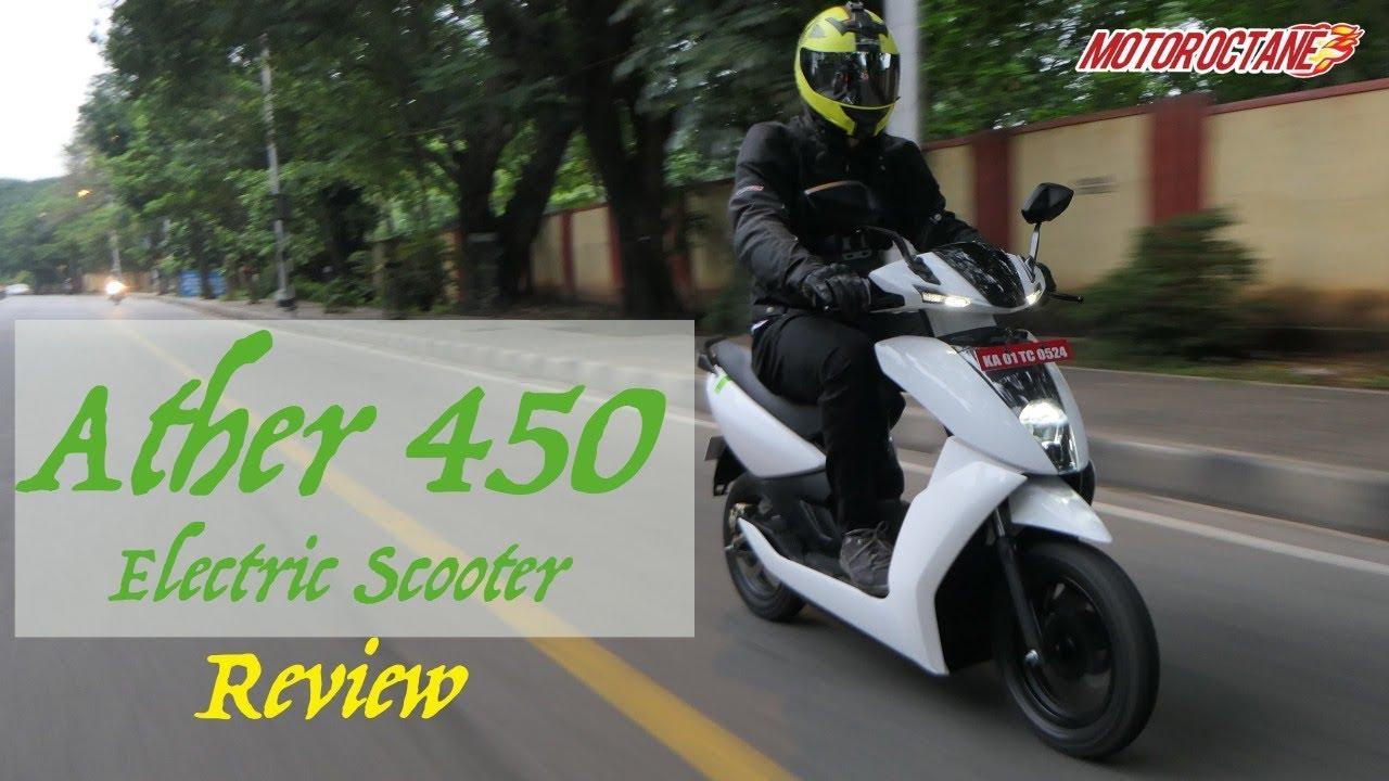 Motoroctane Youtube Video - Ather 450 Review in Hindi | MotorOctane