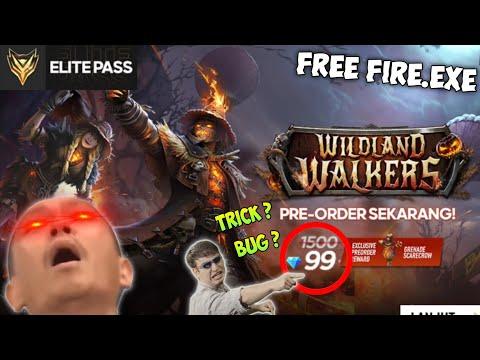 FREE FIRE.EXE - BUG PREORDER ELITE PASS WILDLAND WALKERS ( ff exe, ff lucu )