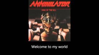 Annihilator - Second to None (Lyrics)