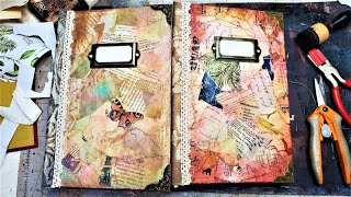 How to Make a Collage Journal Cover for Junk Journals! Part 1 Fun Easy Tutorial! The Paper Outpost:)