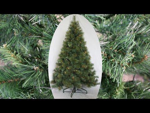 Zeitraffer Aufbau Künstlicher Weihnachtsbaum 61923 - Tannenbaum mit Beleuchtung LED 180 cm