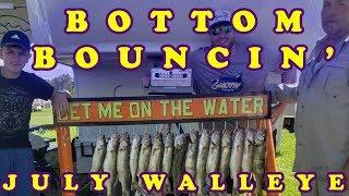 Bottom Bouncin' July Walleye w/ Smiley Blades ( Indian Hills, Lake Sakakawea 2018)