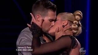 James Maslow Makes Out With Peta Murgatroyd on DWTS! VIDEO