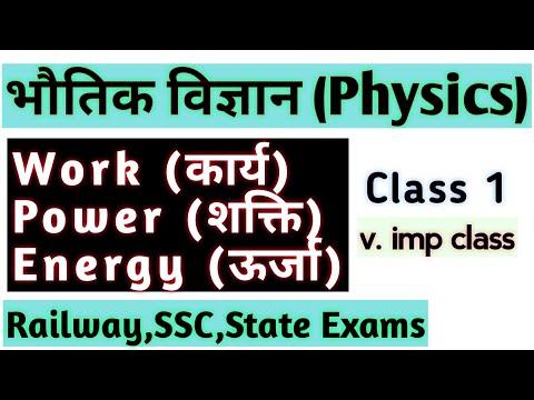 Physics_Work, Power, Energy (कार्य,शक्ति, ऊर्जा)For SSC , Railway