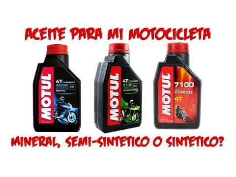 Aceite para motocicleta, ¿mineral, semi-sintético o sintético?