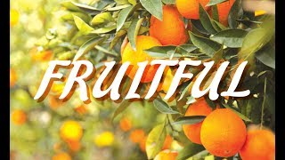 Fruitful 4   Getting Your House In Order