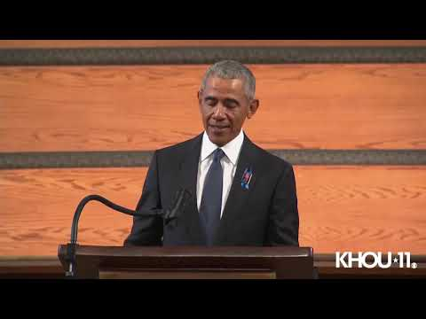 Rep. John Lewis funeral | President Obama delivers passionate eulogy at memorial service