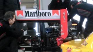 McLaren MP4/5 エンジン始動 鈴鹿サーキット50周年ファン感謝デー