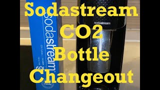 SODASTREAM: How to Change Out a Soda Stream CO2 Bottle-Demonstration and Explanation