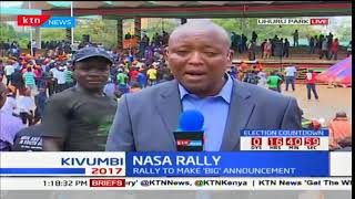 NASA principals expected to arrive at the Uhuru Park grounds for the big announcement
