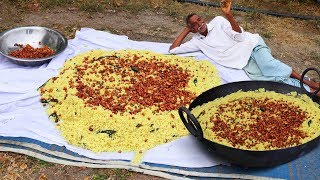 Tamarind Rice Prepared For 100 People By Grandpa | Traditional Indian Tamarind Biryani For Orphans