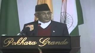oli delevier speech on SAARC session in Nepal