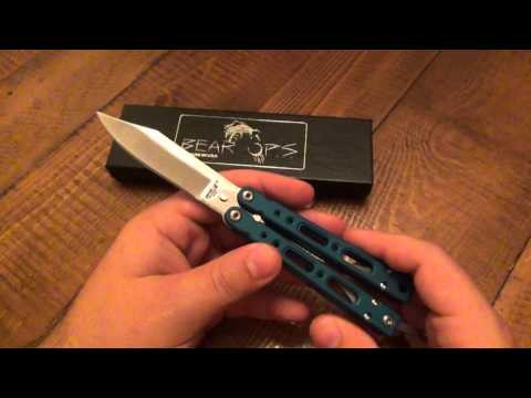"Knife Review : Bear-Ops ""BearSong IV"" (GOOD BALISONG UNDER $100)"