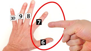 Numbers Trick - How to Multiply with hands - Times Table thumbnail