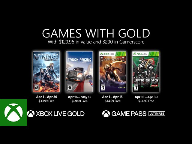 Xbox Free Games With Gold For April 2021