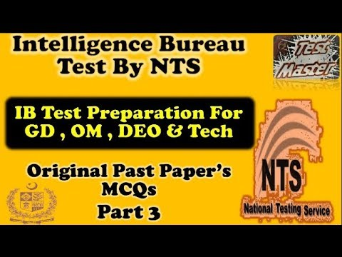 IB GD-11 OR GD-7 NTS PAST PAPERS ORIGINAL – PPSC NTS PAPER MCQS