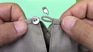 How to Make a Fabric Button Loop