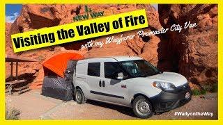 Wayfarer Van Camping in Valley of Fire State Park Nevada