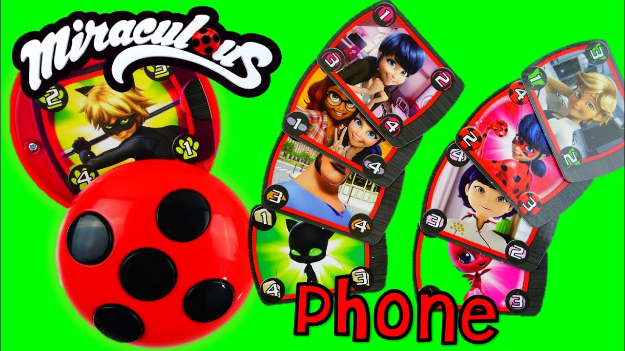 NEW Miraculous Ladybug and Cat Noir Toy Compact Caller Phone Playset Unboxing and Review