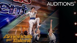 Blue Tokyo: Dancing Acrobats Wow Judges With Innovative Performance - America's Got Talent 2018
