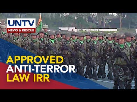 [UNTV]  IRR ng Anti-Terrorism Law, inaprubahan na ng Anti-Terrorism Council