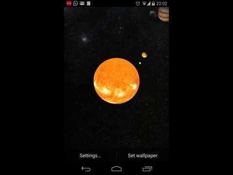 Video of Solar System Live Wallpaper 3D