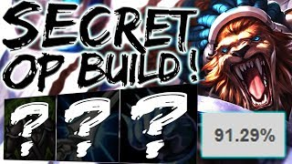 NEW 91% WINRATE RENGAR TOP BUILD ?!? WHY DIDN'T I THINK OF THIS ! NEW OP BUSTED BROKEN NEW BUILD