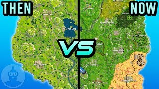 Fortnite Island - Then Vs Now - Evolution Of The Fortnite Map | The Leaderboard