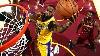 LeBron James Returns to Cleveland 32 Points! 2018-19 NBA Season