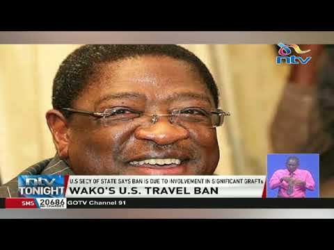 Amos Wako, wife, son banned from traveling to the U.S. over corruption