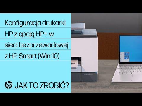 Konfiguracja drukarki HP z opcją HP+ w sieci bezprzewodowej z HP Smart (Win 10)