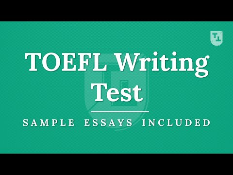 TOEFL Writing Practice Test, New Version - YouTube