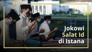 Laksanakan Salat Id di Istana Bogor, Presiden Jokowi Ditemani Iriana dan Kaesang