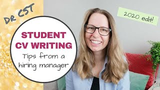 STUDENT CV WRITING TIPS - from a HIRING MANAGER!