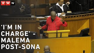 EFF leader Julius Malema claimed that he was 'in charge' when he was interrupted several times during the post-Sona debate in Parliament.    #JuliusMalema  #Sona2020 #EFF #SonaDebate