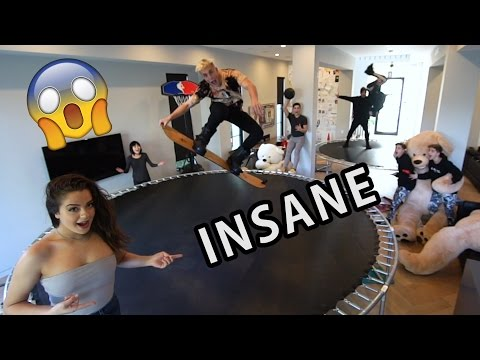 WE TURNED OUR HOUSE INTO A TRAMPOLINE PARK