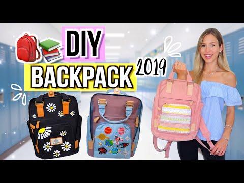 DIY BACKPACKS 🎒Einfach Rucksack verschönern für Back to School 2019 Cali Kessy