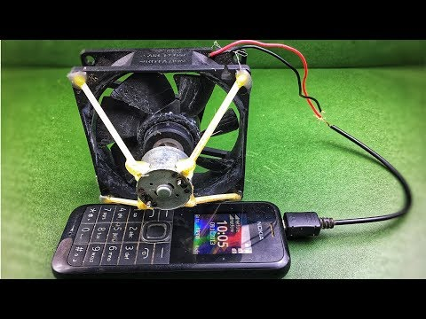 How to make mini self running machine generator mobile charging using dc motor with fan pc 12 volts