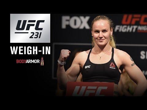 La pesée de l'UFC 231 en direct