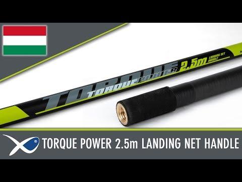 Matrix TORQUE POWER LANDING NET HANDLE - merítőnyél (2,5m) videó