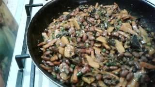 Постное,красивое,вкусное,полезное блюдо из овощей с грибами и фасолью!!!