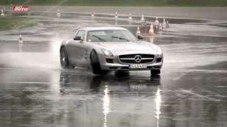 Mercedes SLS AMG Im Sport Auto-Supertest Auf Dem Nürburgring