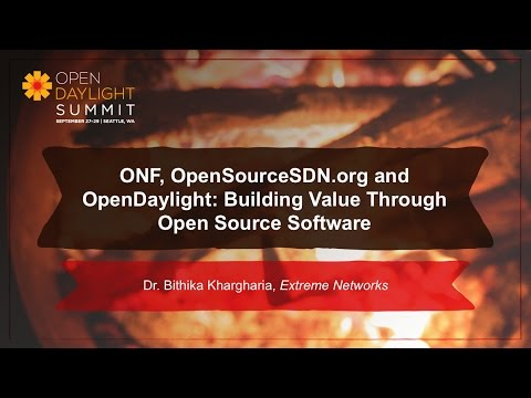 ONF: Value Through Open Source- Dr. Bithika Khargharia - YouTube