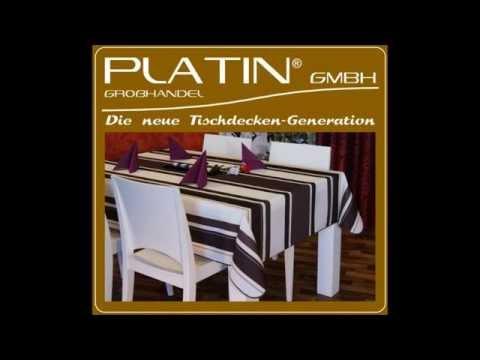 Platin Lotus Tischdecke / Gartentischdecke
