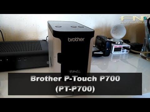 Brother P-Touch P700 (PT-P700) Etiketten-Drucker, Beschriftungsgerät, Computer Version, Portable