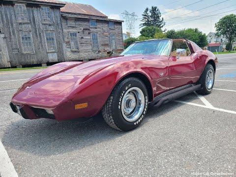 1977 Dark Red Corvette 4spd Buckskin Interior For Sale Video