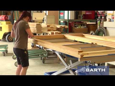 Hubtisch 300 XL mit Lochplatte von BARTH
