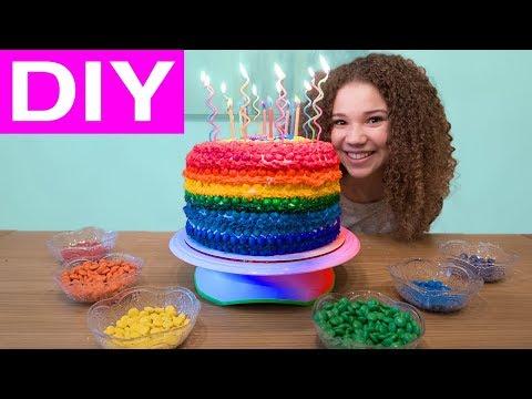 Olivia's Rainbow M&M 12th Birthday Cake