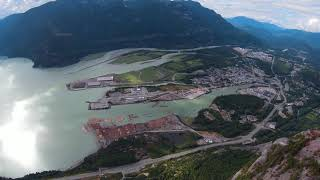 """""""The Chief"""" - Soaring over Squamish, BC with DJI FPV Drone after Summiting"""