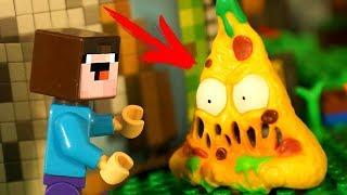 ПИЦЦА для Лего НУБика 🍕 Анимация LEGO Minecraft и Привет Сосед - Видео для Детей